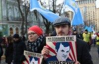 В центре Киева протестовали против нового закона о труде