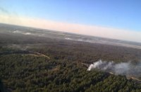 Лесной пожар на Херсонщине тушат с помощью авиации