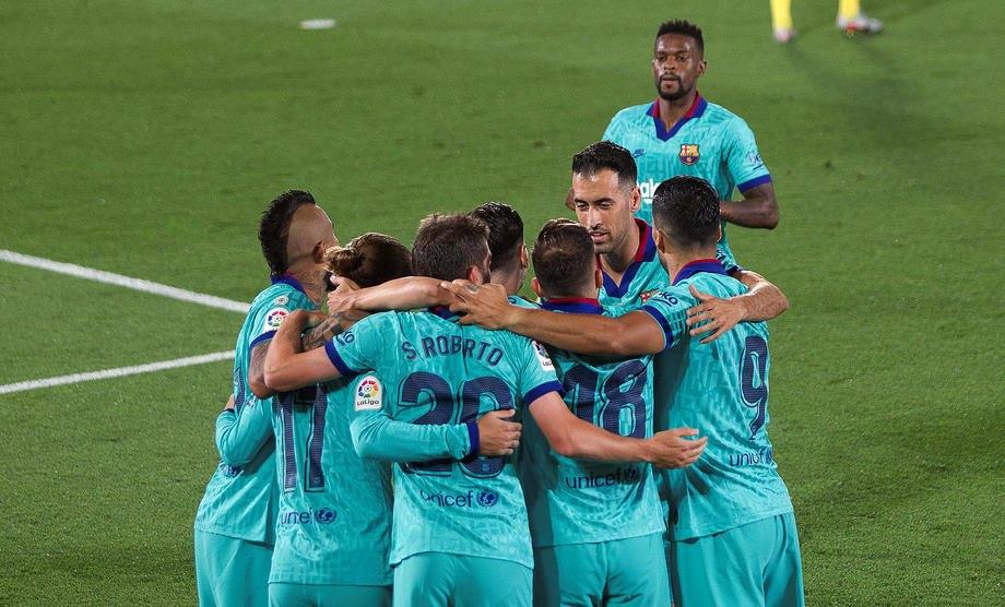 """Гравці """"Барселони"""" відзначають історичну подію"""