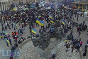 На Майдан приїхали львівські міліціонери