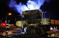 На Дніпропетовщині сталася смертельна ДТП з чотирьма вантажівками, одна з них згоріла