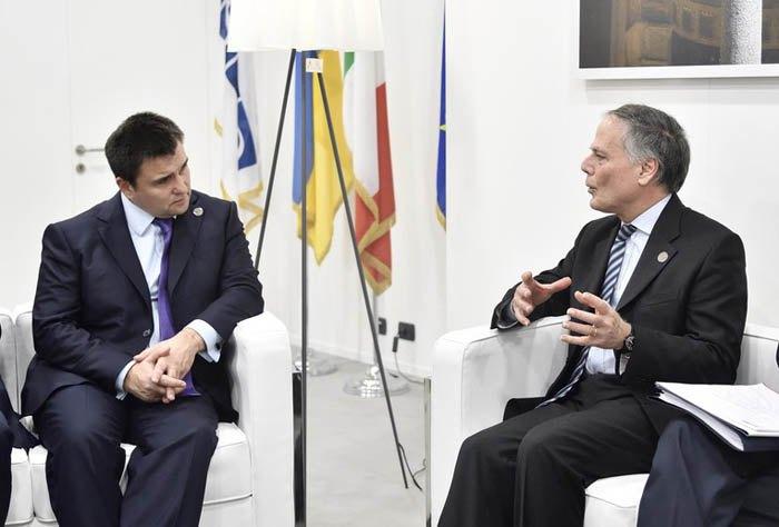 Зустріч глав МЗС України та Італії Павла Клімкіна та Енцо Моаверо-Міланезі у рамках Міністерського засідання ОБСЄ в Мілані