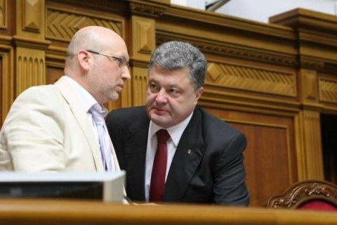 Турчинов: Порошенко міг би стати прем'єром у випадку перевиборів Ради