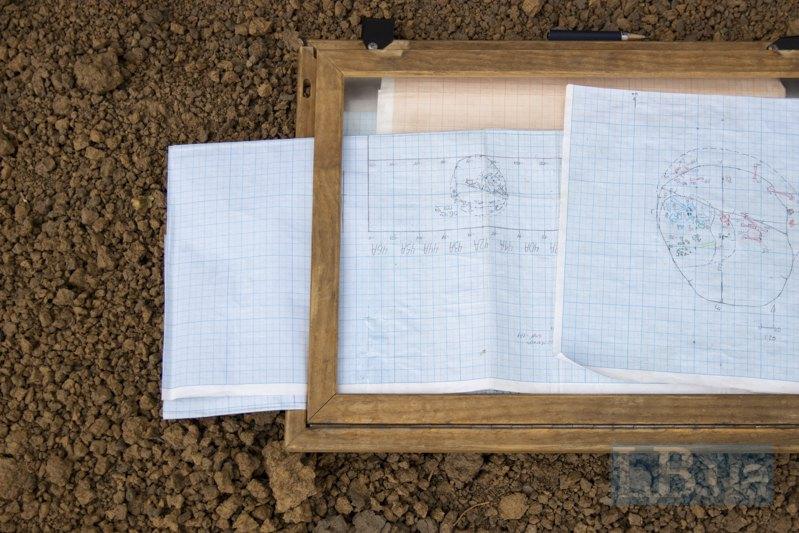 План-схема розкопок.