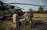 На Донбассе в понедельник ранен военный