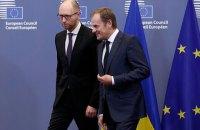 Яценюк поговорит завтра с Туском о ситуации в Азовском море
