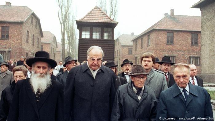 Гельмут Коль в Освенциме, 1989 год