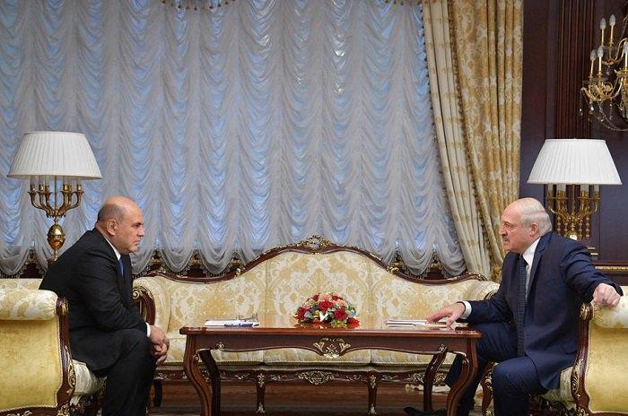 Встреча Лукашенко с премьер-министром РФ - Михаилом Мишустиным
