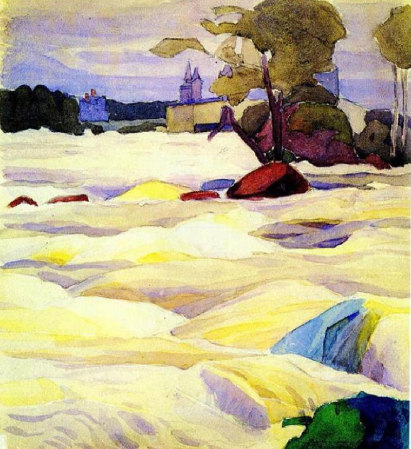 О.Богомазов «Бурхлива річка. Фінляндія» (колекція Григоришина, 1911)