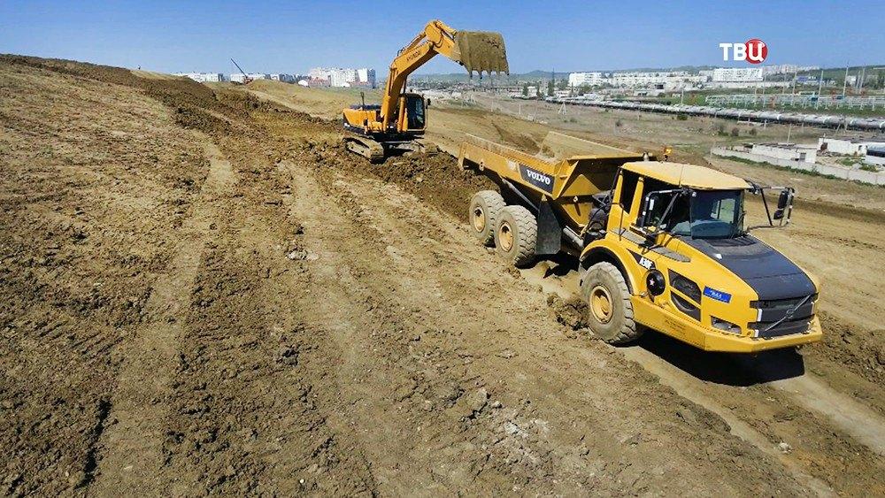 Строительство федеральной трассы 'Таврида' в Крыму