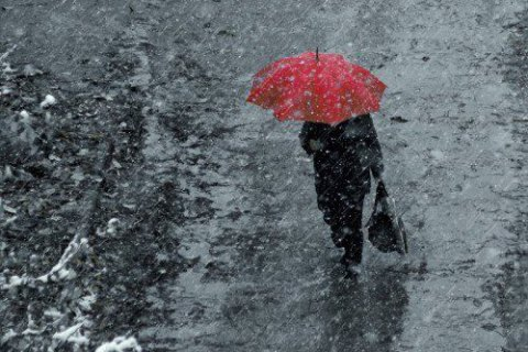 В понедельник в Киеве дождь с мокрым снегом
