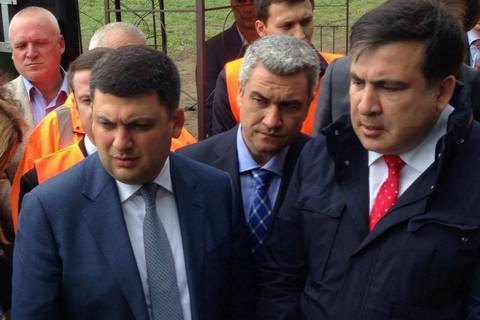Саакашвили передал Гройсману одесский пакет реформ