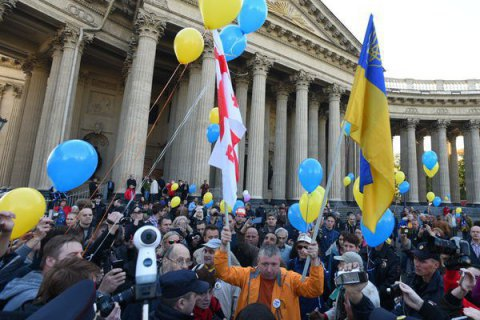 Поліція не дала учасникам маршу за мир з Україною пройтися Петербургом