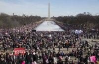 """Более 100 тыс. человек приняли участие в """"Марше женщин"""" в США, обвиняя Трампа в сексизме"""