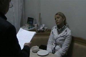 Тимошенко продолжает спать на топчане в душевой