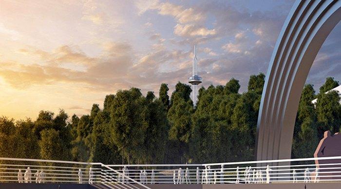 Обзорная башня в Мариинском парке