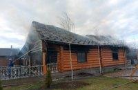 На Одещині згоріла будівля сауни
