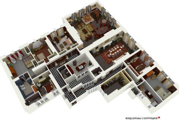 Приблизний план квартири Ігоря Шувалова у Лондоні