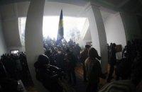 Вінницькі мітингувальники будують барикади перед ОДА