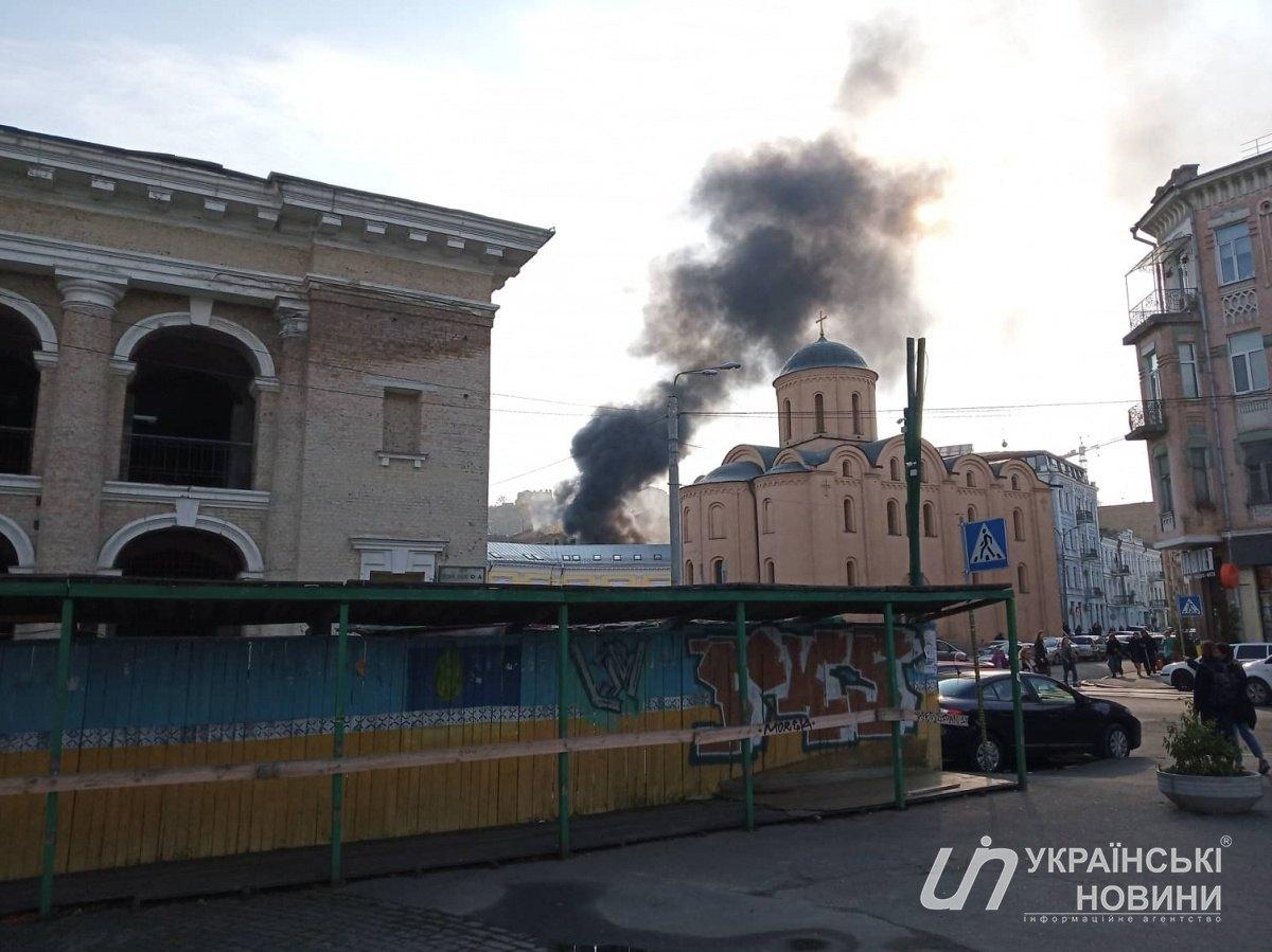 УКиєві загорілася прибудова забудівлею посольства Нідерландів (відео)