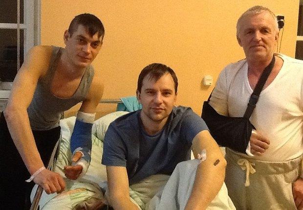 Александр Нечипорук(в центре) с побратимами