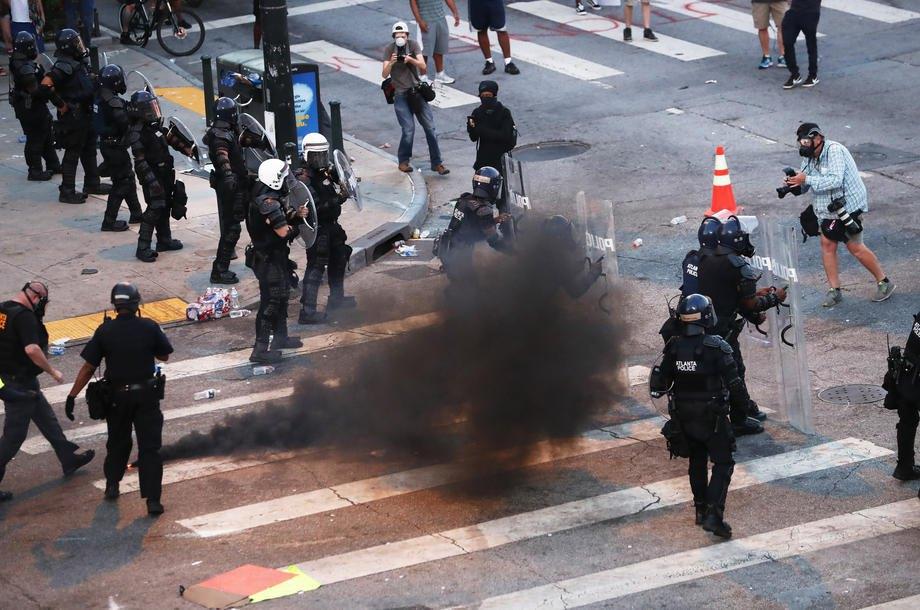 Протесты в Атланте, штат Джорджия, США, 2 июня 2020