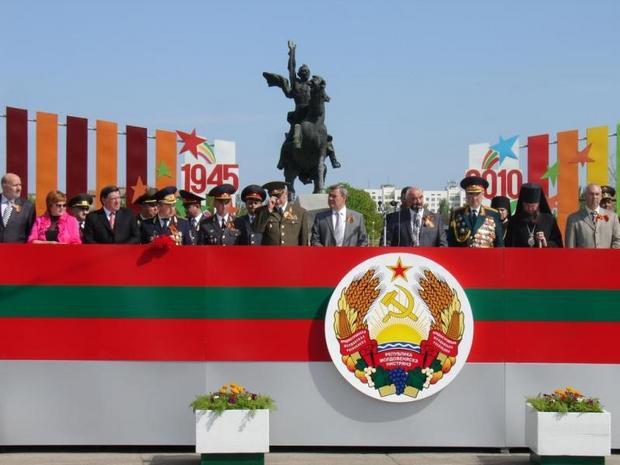Руководители ПМР отмечают 65-ю годовщину окончания Великой Отечественной войны и 20-ю годовщину республики.