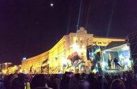 На Майдане монтируют новую большую сцену