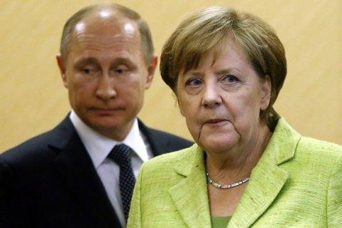 """Меркель и Путин """"обменялись мнениями"""" о транзите газа через Украину"""