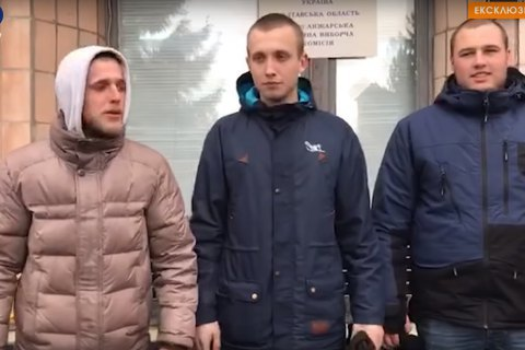 """Троє учасників протестів у Нових Санжарах заявили, що вони не """"тітушки"""""""