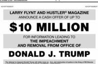 Американский бизнесмен пообещал $10 млн за компромат, который может привести к импичменту Трампа