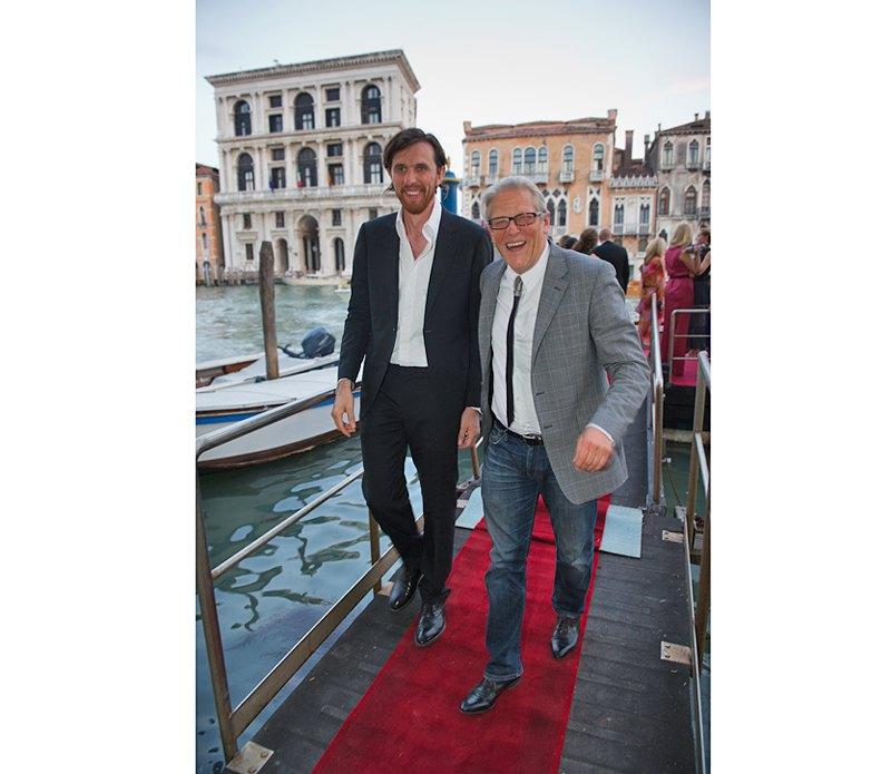 Бйорн Гельдхоф и Ян Фабр прибыли на вечеринку открытия  выставки FGAP