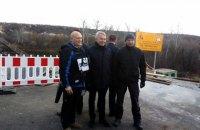Участок разведения сил в Станице Луганской посетил министр иностранных дел Финляндии