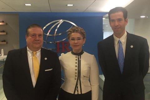 Тимошенко зустрілася з президентом Міжнародного республіканського інституту