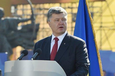 Нателевидении недостаточно украинского языка— Порошенко
