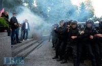 Во время беспорядков под Радой пострадали двое людей, - МВД