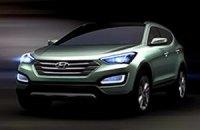 Hyundai представил первые изображения нового Santa Fe