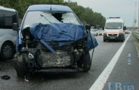 На трассе под Киевом водителя, выставлявшего знак аварийной остановки, сбила машина
