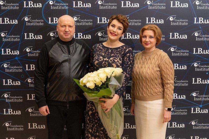 Секретарь СНБО Александр Турчинов с супругой Анной