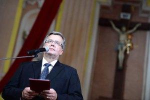 Коморовский о Волынской трагедии: прошлое нужно трактовать честно