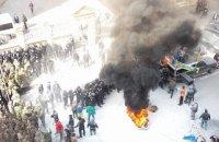 Автомайдан поджег шины возле Администрации Президента