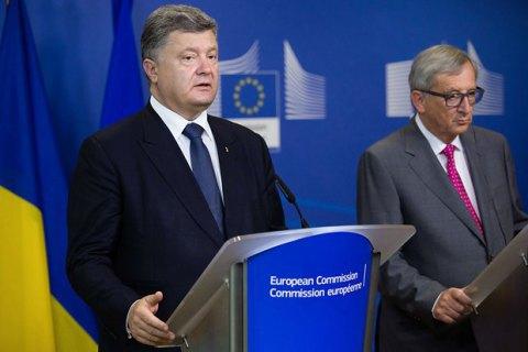 Порошенко обговорив з Юнкером підготовку до 20 саміту Україна - ЄС