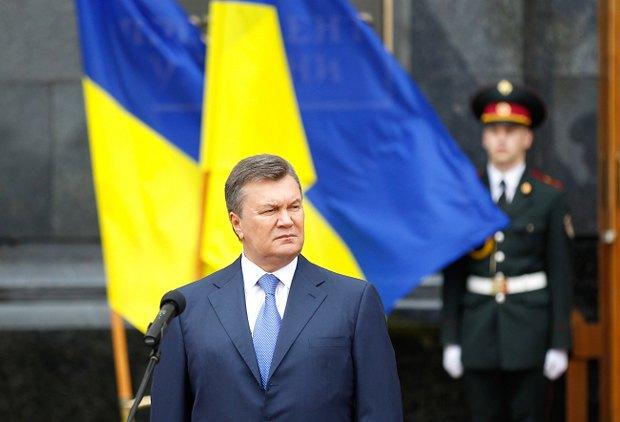 Виктор Янукович во время празднования Дня флага, 23 августа 2013