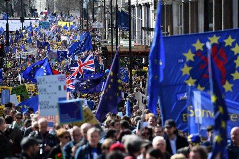 """В Лондоне прошел многотысячный марш против """"брексита"""""""