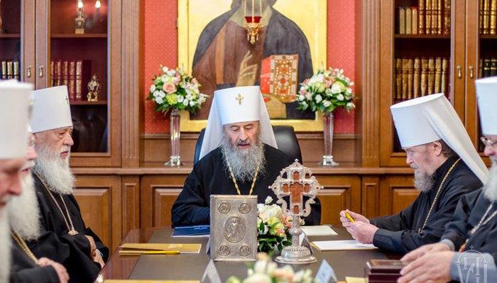 Архиереи УПЦ МП на заседании Священного Синода, 25 июня 2018