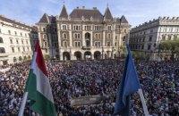 Тисячі угорців вийшли на акцію протесту проти Орбана