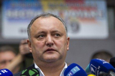 Президент Молдовы Додон надеется на встречу с Зеленским