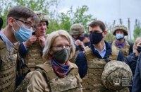 Спікерка сейму Латвії відвідала зону ООС (оновлено)