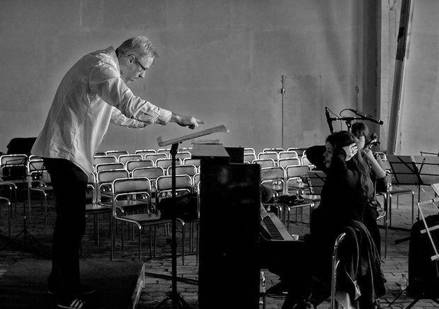 """Федор Леднев и Наталья Пшеничникова, репетиция """"Scompositio"""" Бориса Филановского, апрель 2015"""