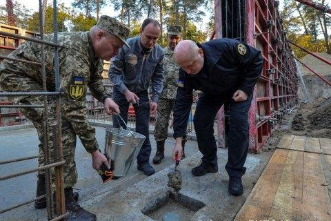 Турчинов заложил символическую капсулу на строительстве новой штаб-квартиры внешней разведки
